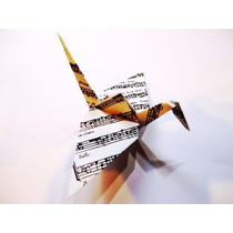 Grullas Origami, Papel Partituras, Notas Musicales, Eventos