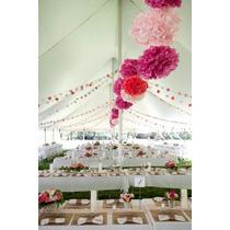 Flores De Papel Lamparas Chinas Casamientos X40