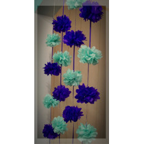 20 Cm Flores De Papel De Seda Pompones P/ Decorar Girnaldas