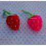 Frutillas Al Crochet X 2 - Ideal Souvenirs - Llavero
