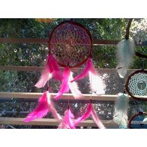 Atrapasueños De 15cm Con 12 Plumas Estilo Flor