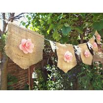 Banderines Guirnaldas De Tela Arpillera Decorativos