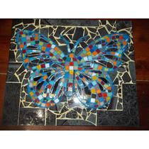 Cuadro Mariposa Realizado En Mosaiquismo Tecnica Trencadis
