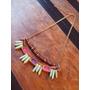 Yolo#167 - Collar Piedras Violetas Y Fucsias