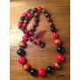 Yolo#115 - Collar Bolas De Madera (combinado)