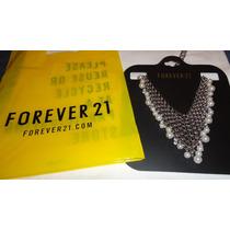 Exclusivo Collar Labrado Forever 21 Con Bolsa Original