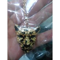 Oferta Collar Cabeza De Tigre En Dorado + Regalo