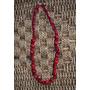 Yolo#119 - Collares De Tela Con Bolitas Recubiertas (rojo)