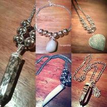Collar Piedras Naturales Cuarzos, Pendulos, Cuernos Y Mas
