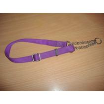 Collar De Nylon Ajustable Con Cadena De Ahorque