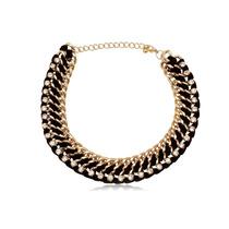 Maxi Collar Dorado Y Negro