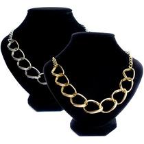 Collar Gargantilla Gruesa De Aluminio Lo Ultimo Moda 2015