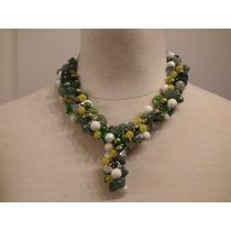 Collar De Cristales, Piedras Naturales Y Vidrios
