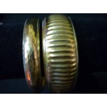 Par De Pulseras Brazalete Importadas En Bronce Made In India
