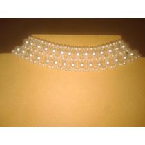 Gargantilla De Perlas Color Natural (largo 38.5 Cm) - Bijoux