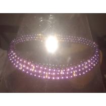 Gargantilla Perlas Color Violeta 3 Vueltas (largo 34 Cm)