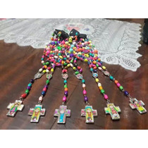 Rosarios Porfis-plis-cuidame De Colores