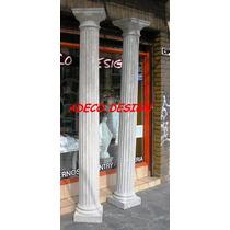 Columna Cemento Y Marmolina Toscana Estriada 2.45 Fabrica