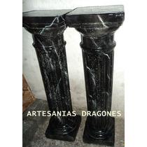 Columnas De Yeso Simil Marmol Negro..hay Mas Colores..
