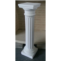Columna De Yeso Dorica Fina 80 Cm De Altura