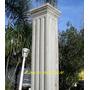 Columna Cuadrada De Cemento Dorica Estriada Recta Fabrica