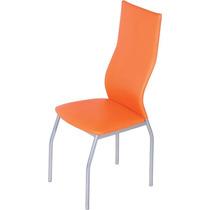 Silla - Sillas Modernas - Patas Color Aluminio - Ecocuero