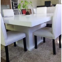 Mesa Base Central Melamina Blanca Total Zeta Muebles Outlet!
