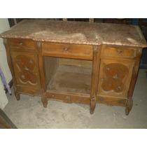 Comoda antigua lavatorio roble tallado marmol espejos for Muebles antiguos argentina