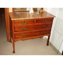 Historical*- Antigua Comoda Art Nouveau Roble Perfecta-envio