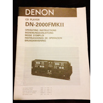 Denon Dn-2000f Mkii Manual Original