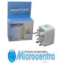 Adaptador Enchufes Universal Multiple Viajero Microcentro