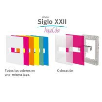 Tapa De Luz Cambre Aqua Color Tecla Doble Dos Teclas Modulo