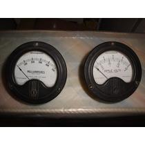 Antiguos Voltimetro Y Miliamperimetro (sin Uso) $400