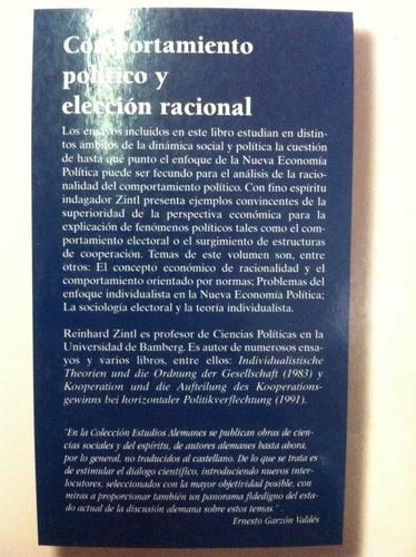 Comportamiento Político Y Elección Racional Reinhard Zintl
