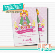 Comunión Nena - Estampita Para Imprimir Virgencita
