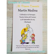 Estampa Comunion Invitacion Bautismo Infantil Papa Francisco