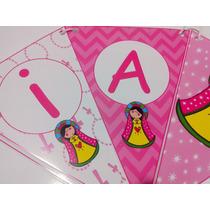 Cartel Y Banderin Personalizado Virgencita Porfis