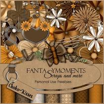 Kit Imprimible Fantasy Moments Scrap+ Elementos + Papeles