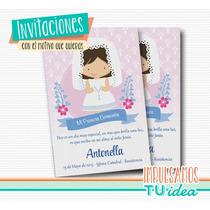 Comunión Nena - Estampita Para Imprimir Nenita