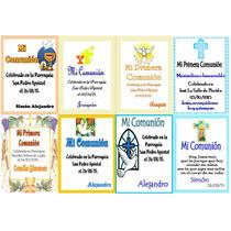 Estampitas Tarjetas Souvenir Comunión Bautismo Personalizada