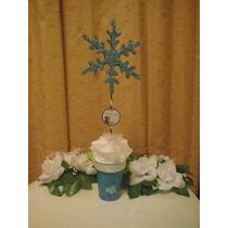 10 Centro Mesa Frozen Topario Topiario Copo De Nieve Cristal
