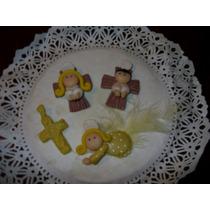 10 Apliques Miniatura De Angelitos En Porcelana Fría