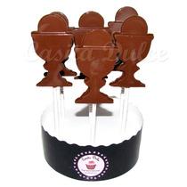10 Chupetines De Chocolate Caliz Con Hostia Comunion Souveni