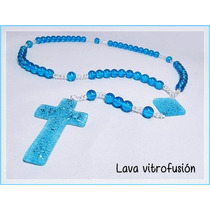 Rosario Vitrofusion Souvenir Comunion Bautismo Confirmacion