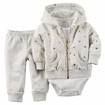 Carters Set Camperita, Body Y Pantalón - 18m