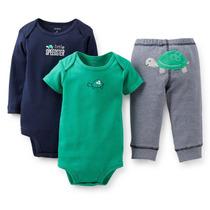 Carters Set 3 Piezas Bebe Niño. Varios Talles Modelos
