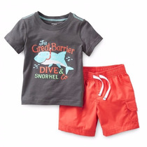 Clippate Conjunto Set Carters Usa Remeras Short Niños Bebés