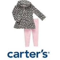 Conjunto Carters Buzo/vestido Print Y Pantalon/calza 12m