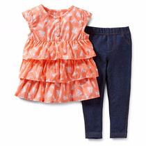 Clippate Set Carters Usa Importado Bebe Camisola Jeans Niña