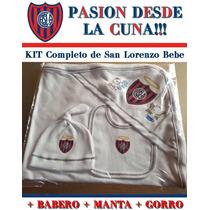Set Ajuar San Lorenzo Bebe Babero Manta Gorro Envio Gratis